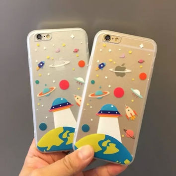 Hot Deal Iphone 6/6s Cute Stylish On Sale Hot Sale Apple Iphone Transparent Phone Case [6034112961]