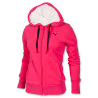 Women's Puma Sherpa Full-Zip Hooded Jacket