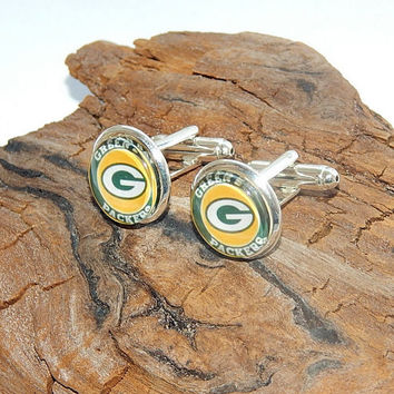 Green Bay Packers Logo cufflinks American football logo, football teams, NFL football sports, Green Bay Packers simbol patch emblem football