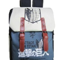High Quality Japanese Anime Attack on Titan Backpack School Bag Cartoon Clamshell Laptop Bag