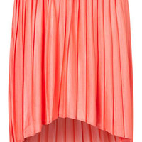 Pleated Dip Hem Skirt - Skirts - Clothing - Topshop