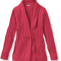 Women's Double L Cotton Sweater, Open Cardigan | Free Shipping at L.L.Bean