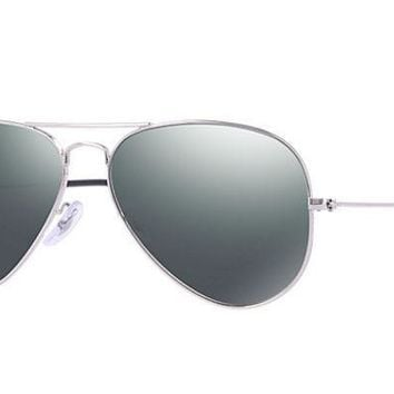 LMF8UH Ray Ban Aviator Sunglass Silver Grey Mirrored RB 3025 W3277
