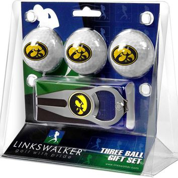 Iowa Hawkeyes 3 Ball Gift Pack with Hat Trick Divot Tool