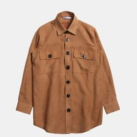 Essential Suede Button Down Shirt