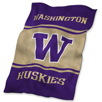 Washington Huskies NCAA UltraSoft Fleece Throw Blanket (84in x 54in)
