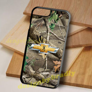 Rare Chevrolet Camo Browning For iPhone Case 5 5s 6 6s 7 Plus Hard Plastic Cover
