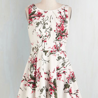 Critters Mid-length Cap Sleeves Fit & Flare Everything is Blossom Dress