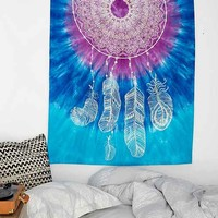 Magical Thinking Tie-Dye Dreamcatcher Tapestry- Purple One