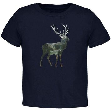 CUPUPWL Deer Forest Nature Hiking Hunting Toddler T Shirt