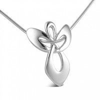 Sterling Silver Guardian Angel Pendant Necklace