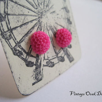 Holiday Carnival Earrings  Mini Mum earrings by VintageOoakDesigns