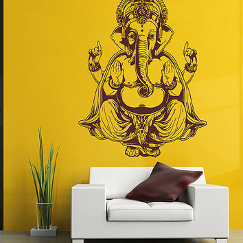 kik2876 Wall Decal Sticker elephant god Ganesha Hindu bedroom living room