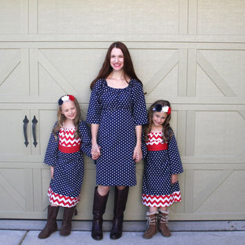 Mother Daughter Matching Christmas Day dresses