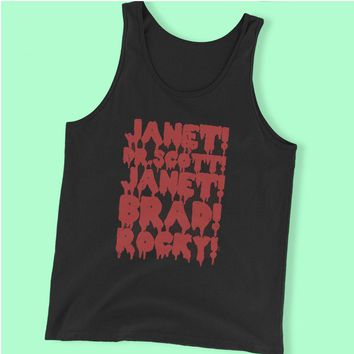 Rocky Horror Picture Show Janet Brad Dr Scott Frank N Furter Horror Musical Movie Men'S Tank Top