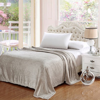 Popular Home Pinstripe Collection Grey Queen Size Ultra Plush Blanket