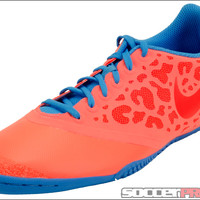 Nike FC247 Elastico Pro II Indoor Shoes - Bright Mango with Blue Glow - SoccerPro.com