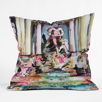Ginette Fine Art Trevi Fountain Rome Italy 1 Throw Pillow