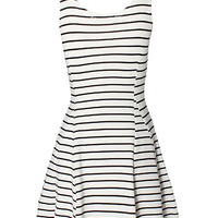 'The Elisa' White Striped Sleeveless Dress