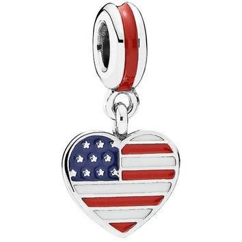 Authentic Pandora Jewelry - Heart Flag - United States