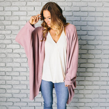 Out Of The Woods Knit Cardigan In Pink