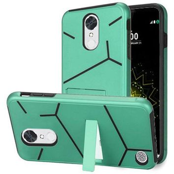 LG Grace Lte Slim HLX Hybrid Phone Case with Kickstand, Teal/Black