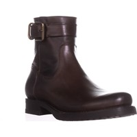 FRYE Veronica Strap Zip Short Ankle Boots, Chocolate, 8.5 US