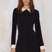 Nasty Gal Au Pair Mini Dress - Black