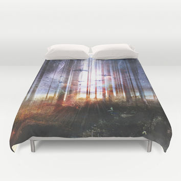 Absinthe forest Duvet Cover by HappyMelvin
