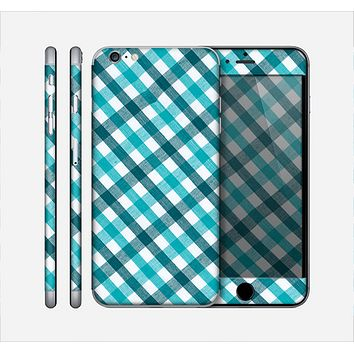 The Vintage Blue & Black Plaid Skin for the Apple iPhone 6 Plus