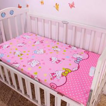 Promition! Cartoon Cartoon Baby Fitted Sheet,Baby Boy Crib Cot Bedding Set baby bed linen ,120*60/120*70cm