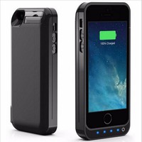 For iPhone 5 5S 5C External Battery Charger Case Power Bank Cover for iPhone SE Backup Battery Charger Case for iPhone 5 4200mAh