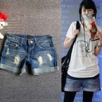 Promotion lady Denim Shorts,(S,M,L,XL,XXL)Fashion Ladies Jean Shorts,Denim  with Casual Short Hot Sale Free Shipping