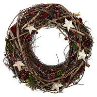 Buy John Lewis Wicker and Moss Wreath | John Lewis