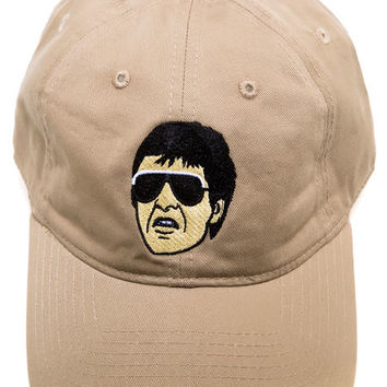 Tony Montana khaki dad hat
