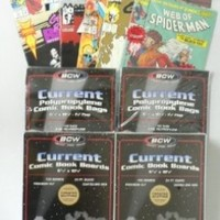 Ultimate Comic Book Collectors Package of 200 BCW Current Comic Book Bags and Boards! Plus Special Bonus of TEN (10) Marvel Comic Books! Look for Popular Marvel Titles including Spiderman,X-Men,Avengers,Woverine,Fantastic Four and Many More! Amazing Value!