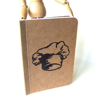 Kitchen Notebook with Chef Hat, Pocket Journal, Perfect Bound Moleskine, Mini Diary and Jotter, Recipe Book