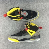 [Free Shipping]Nike Air Jordan Spizike 3M Yellow/Gray/Black Colorway Steelers Spike Basketball Sneaker
