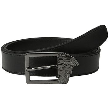 Versace Collection Men's Medusa Buckle Leather Belt