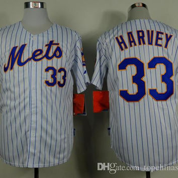 Mets #33 Matt Harvey Jersey New York Baseball Jerseys Mens Baseball Wear Professional Baseball Shirts Sports Jersey Embroidered Name Number
