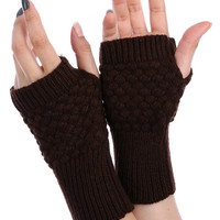 Brown Knitted Hand Warmers