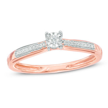 Diamond Accent Promise Ring in 10K Rose Gold