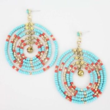 Turquoise Tribal Earrings - Buy From ShopDesignSpark.com