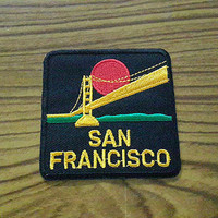 Golden Gate Bridge San Francisco Applique Embroidered Iron on Patch 6.5x6.6 cm