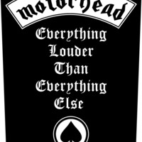 Motorhead Sew On Canvas Back Patch Everything Louder Logo