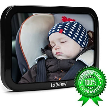 "totview® Baby Car Mirror | Premium 10.2"" EXTRA-LARGE Rear-Facing Baby Mirror 