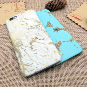 New Marble Stone Case Cover for iPhone 7 7 Plus - iPhone 5s se - iPhone 6 6s Plus + Gift Box