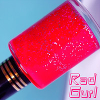 Rad Gurl :  Glitter Nail Polish / Lacquer, Varnish, Polish
