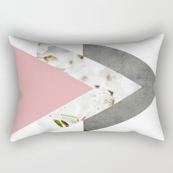 Blossoms Arrows Collage Rectangular Pillow by ARTbyJWP