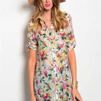 Floral and Buttons Top